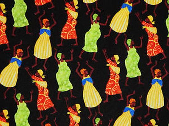 African Tribal Women Dance of Life by Julia Cairns-