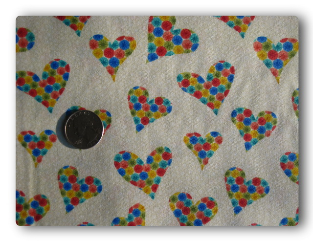 Rainbow Hearts on White-