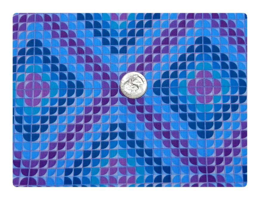 Blue and Purple Glass Tile-