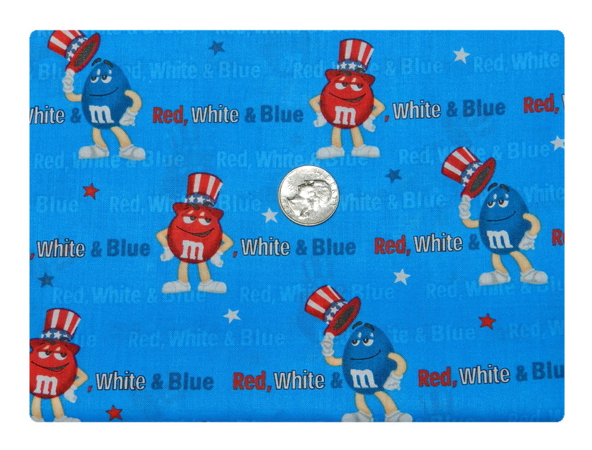 Red White and Blue M and M's-