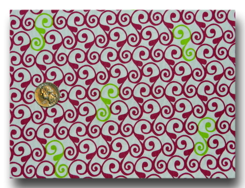 Perfectly Perched - Dark Pink and Green Swirl-