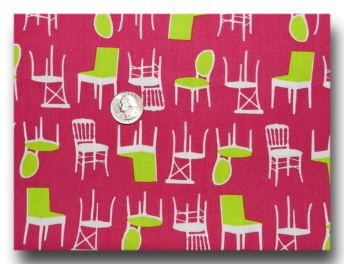 Perfectly Perched - Green Chairs on Pink-