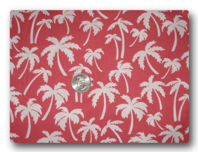 Palm Trees on Coral Pink-