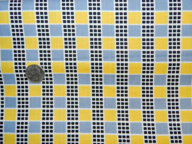 Next Wave Squares - Dark Gray and Yellow-