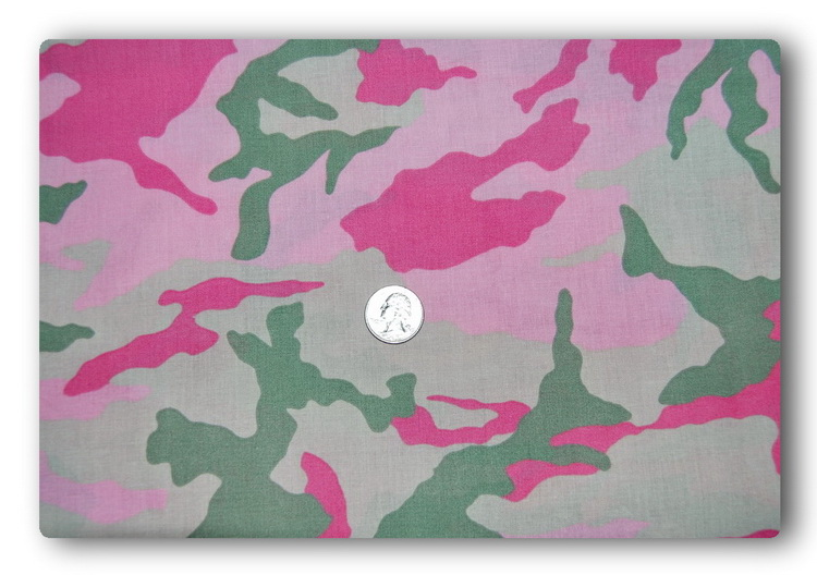 Pink and Green Camo-