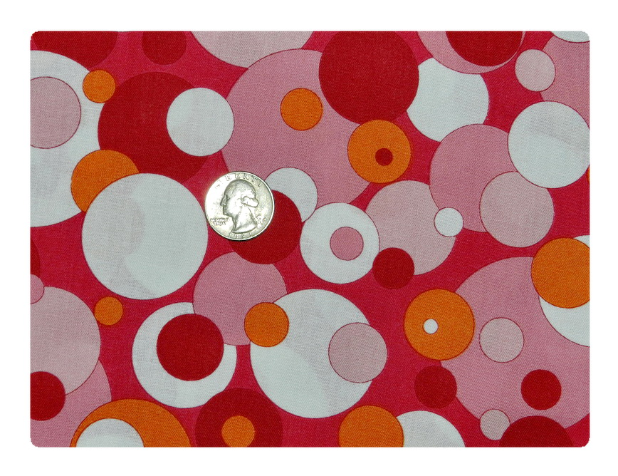 Pink and Orange Bubbles-