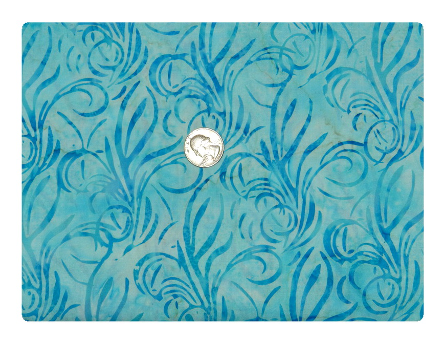 Blue Batik Flurry-