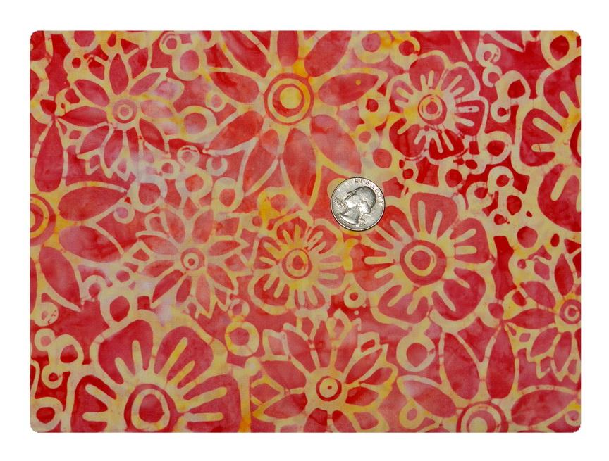 Batik Tie Dye Citrus Flower-