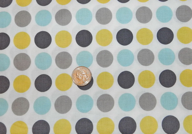 Aqua Gray and Maize Dots-