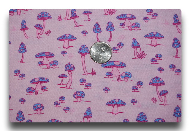 Pink and Purple Polka Dotted Porcini-