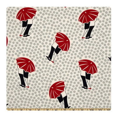 Red Umbrella in the Rain-