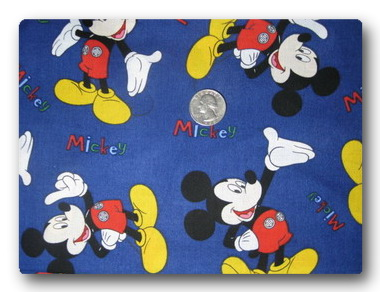 Mickey on Blue-
