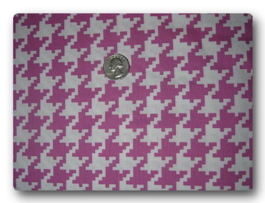 Pink Houndstooth-