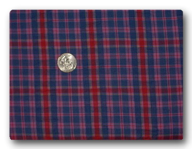 Red and Blue Plaid Seersucker-