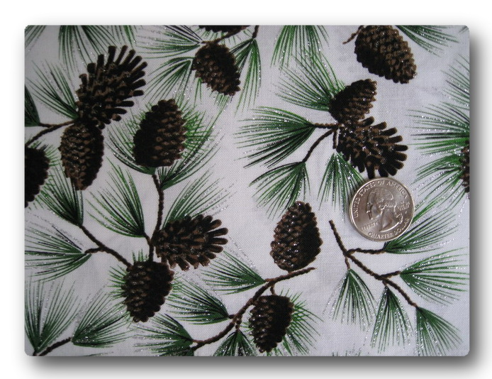 Pine Cones with Silver Snow-