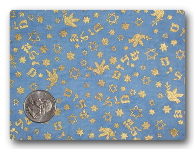 Gold on Blue Star of David-