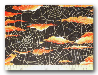 Gold Webs-Orange Clouds-