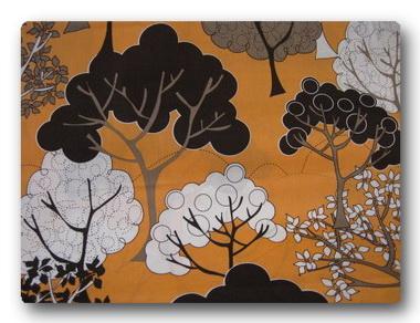 Trees on Orange-