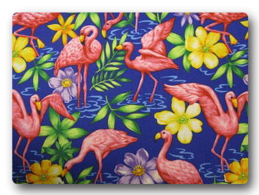 Flamingos on Purple-