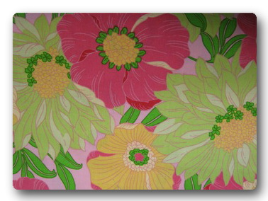 Pink Green Yellow Flowers-