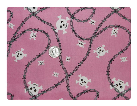 School of Rock Skulls on Pink-