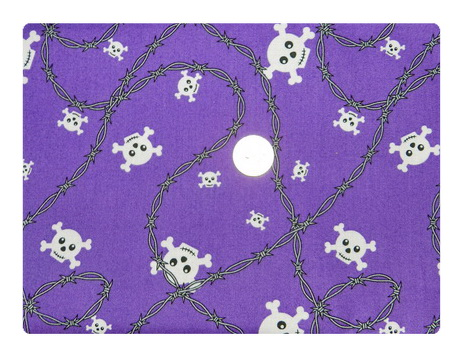 School of Rock Skulls on Purple-