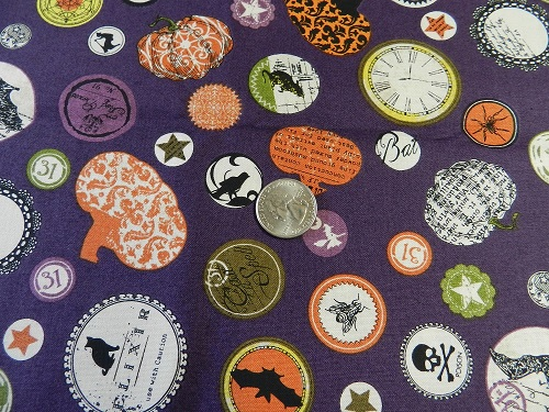 Halloween Circles on Purple-