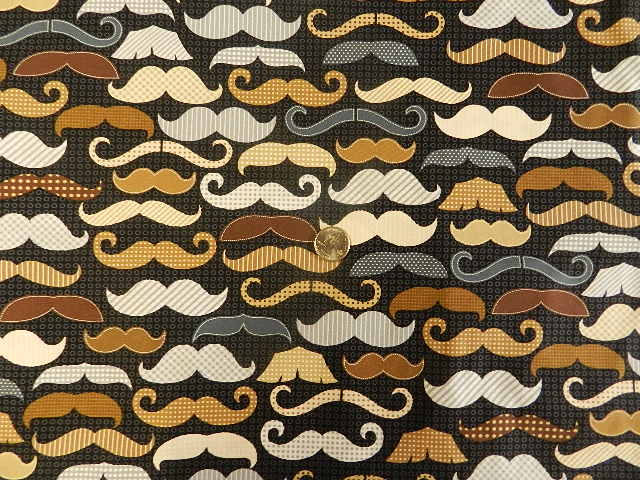 Mustaches on Black-