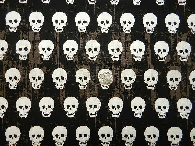 Mini Skulls on Black-