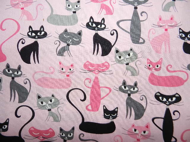 Modern Cats on Pink-