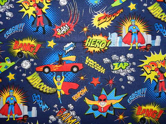 Super Heros Power Words-