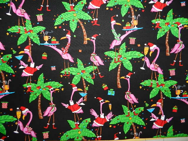 Santa Flamingos Cheers-