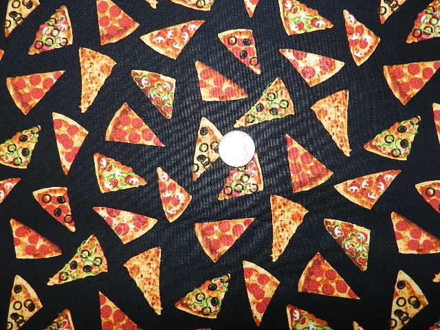 New fabrics for Space pizza fabric