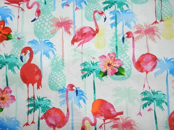Flamingos and Pineapples-