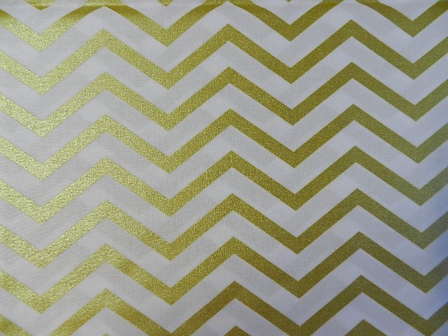 Traditional Chevron Gold on White-