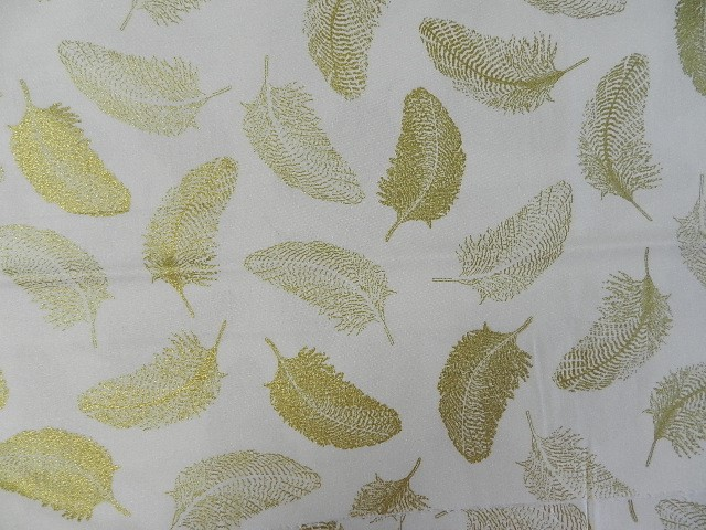 Simply Gold Feathers on Ivory-