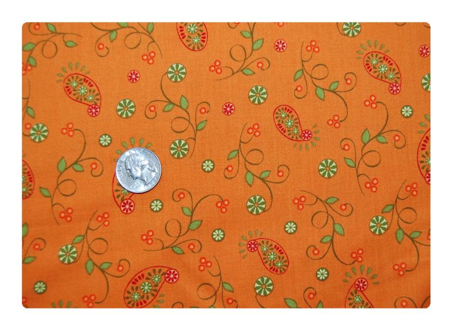 Orange Paisley-