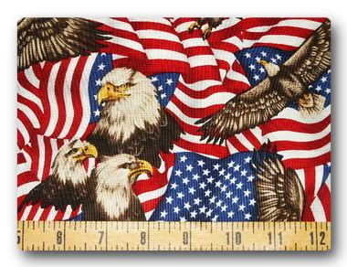 Flag - Flags and Soaring Eagles-