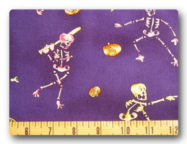 Sporty Skeltons on Purple-