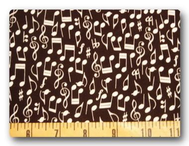 White Music Notes on Black-