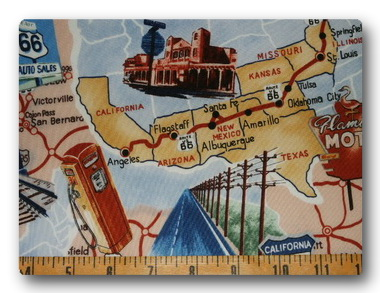 Route 66 on Light Blue-