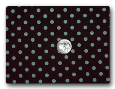 Aqua Dots on Brown-