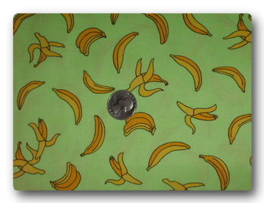Bananas on Green-
