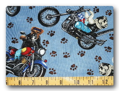 Bulldogs on Bikes on Blue-