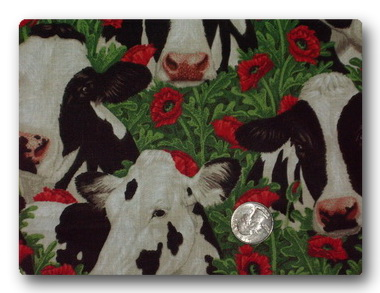 Farm - Cows and Poppies-