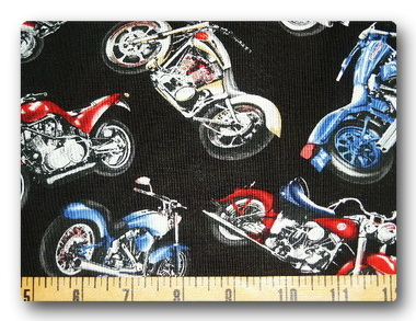 Motorcycles on Black-
