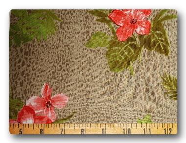 Flowers on Leopard-