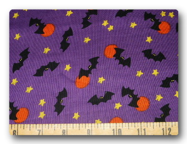 Bats on Purple-