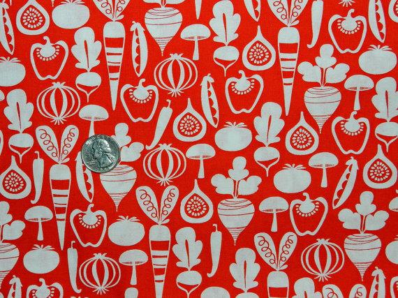Tiny Veggies on Tomato Red-