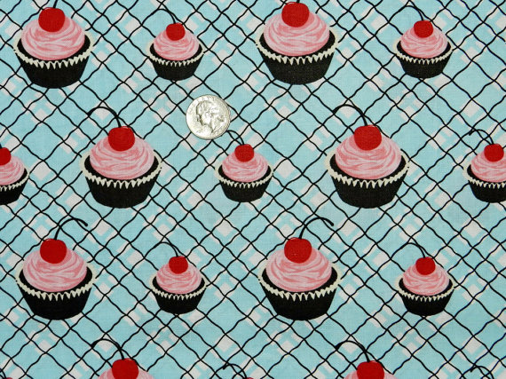 Cupcakes on Blue-